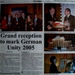 Borneo Bulletin German Unity 2005