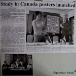 Borneo Bulletin Study in Canada  posters launched