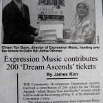 Borneo Donation of Concert Tickets