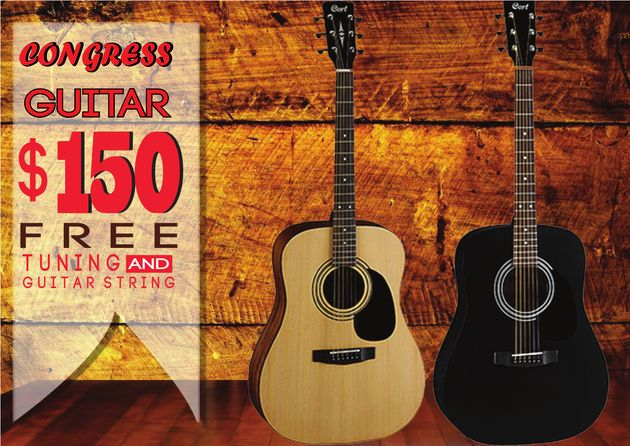 Congress Guitar: $150 with Free Tuning and Guitar Strings