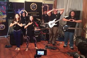 Expression Music Students and their trophies