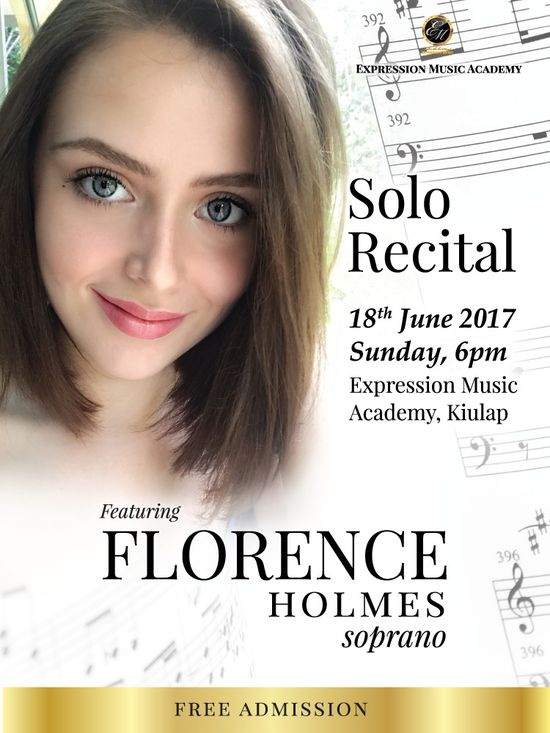 Solo Recital – Florence Holmes 18 June 2017